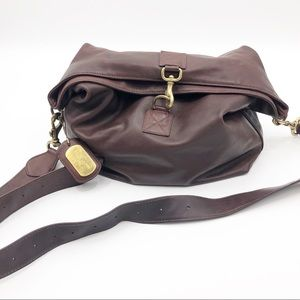 VTG Ralph Lauren brown leather satchel bag purse